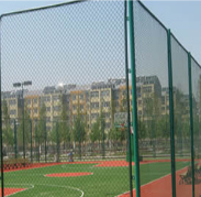 Sports stadium chain link fence