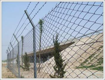 Protection chain link fence