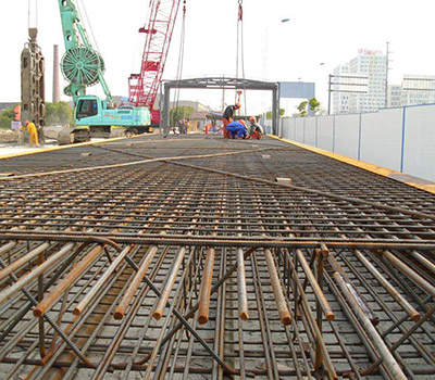 Bridge reinforced steel mesh